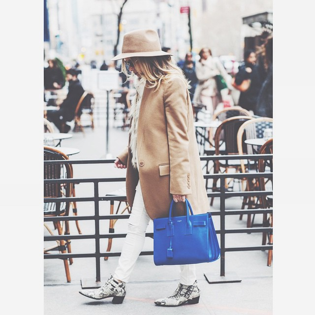 Over-the-hump camel with a pop of color. New on NYFH..head…