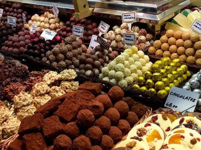 Barcelona food market, Indegare