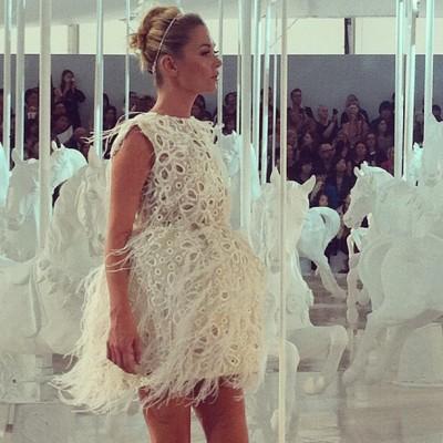 Kate Moss at Louis Vuitton show in Paris