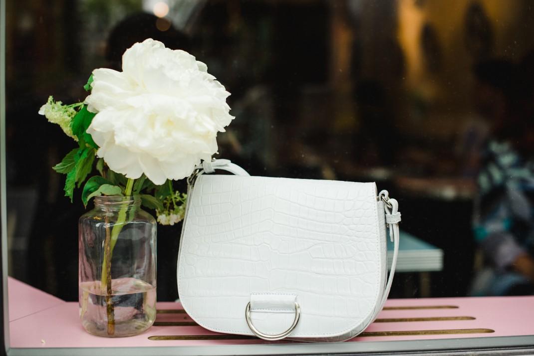 all white bag