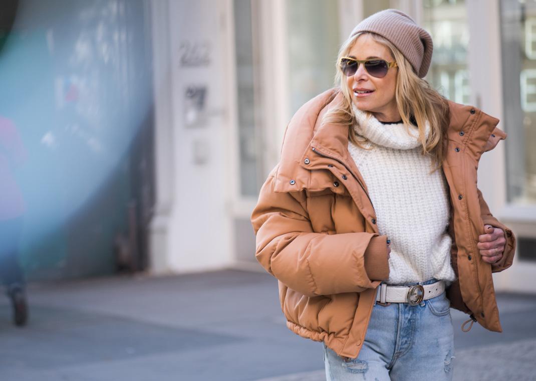 camel puffer jacket