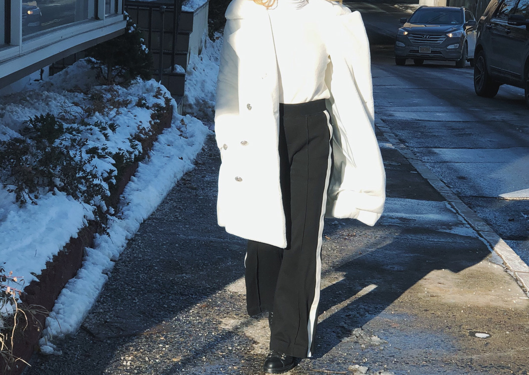 winter white faux fur