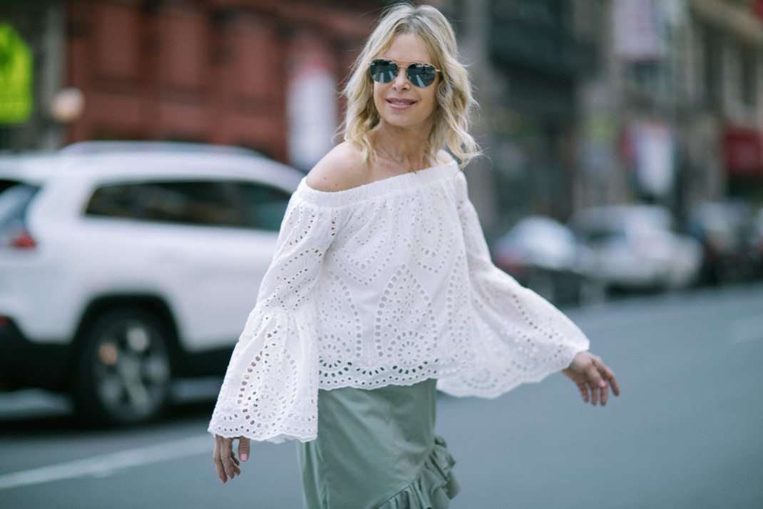 off the shoulder top for summer