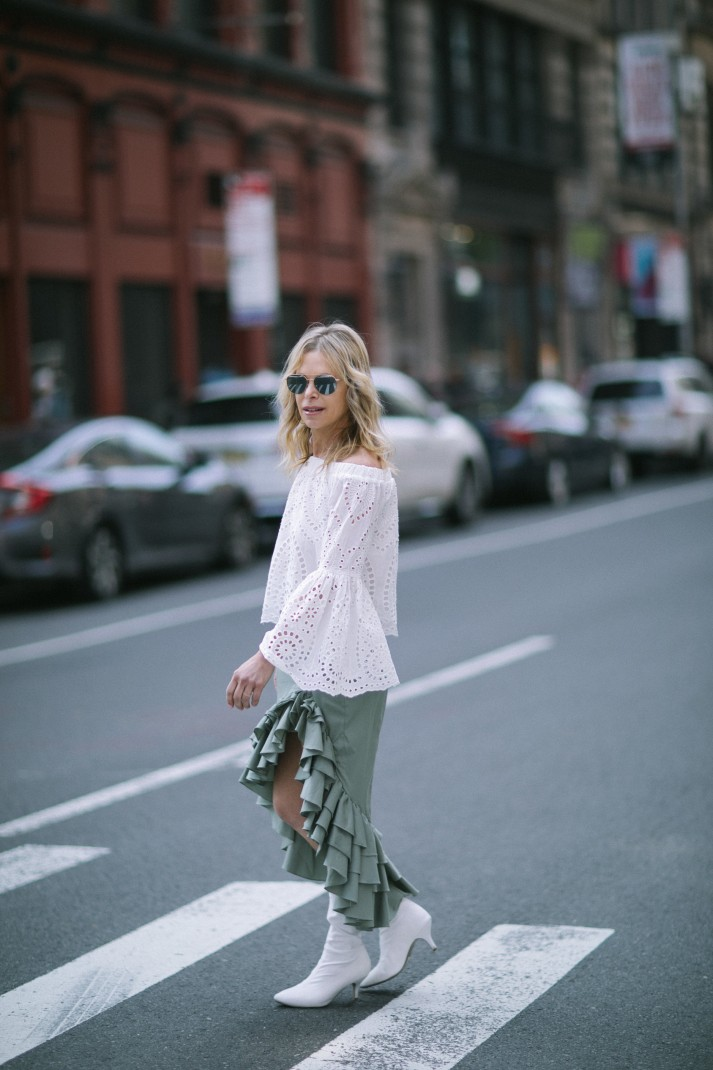 off the shoulder lace top for summer