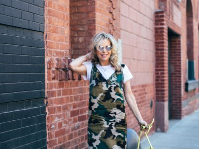 camouflage printed dress
