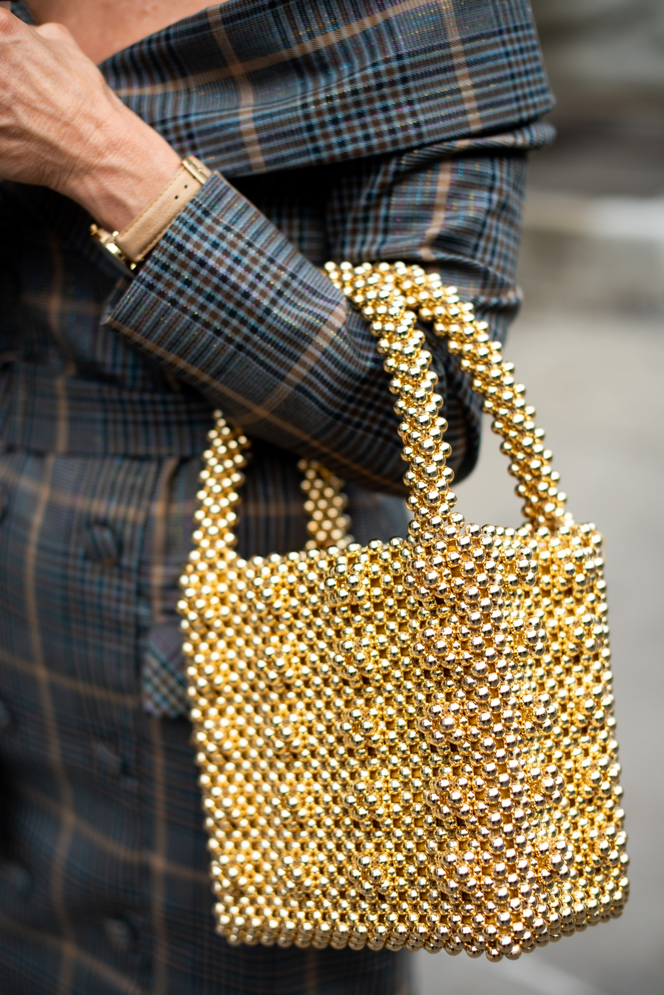 shrimps gold bag