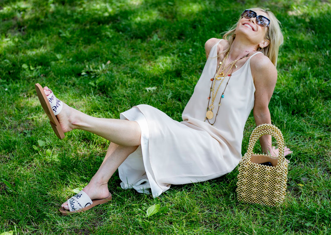 0608c9a277 Holiday Mood for the 4th of July. 4th of July holiday. Wearing L'Agence  slip dress